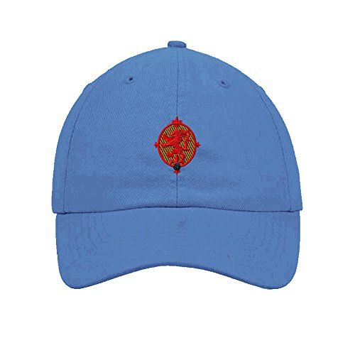 Speedy Pros Lion Rampant Embroidery Twill Cotton 6 Panel Low Profile Hat Light Blue