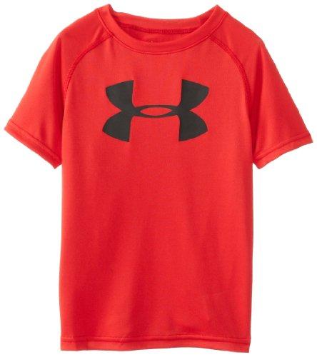 Under Armour Little Boys' Big Logo Short Sleeve Tee Shirt, Red, 7