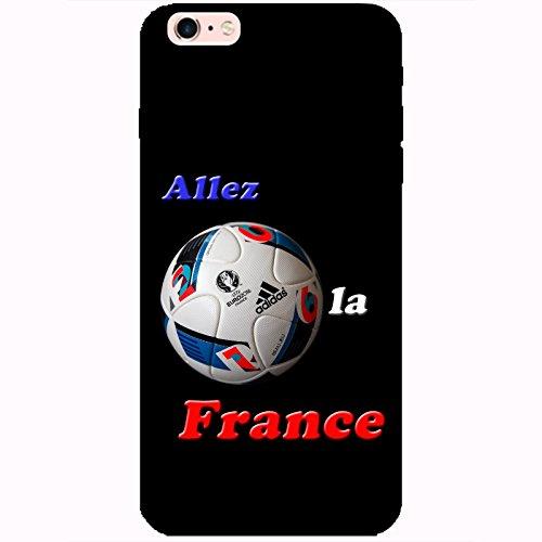 Coque Apple Iphone 6 Plus-6s Plus - France Euro 2016 Noire