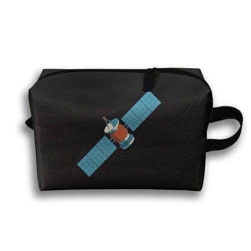 Kkf Travel Gadget Organizer Portable Toiletry Bag Cosmetic Pouch Medicines Storage Holder Universe Satellite High-capacity (Satellite Storage)