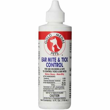 (Gold Medal Pets Ear Mite & Tick Control for Pets, 4 oz.)