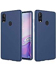 DYGG Compatibel met hoes Samsung Galaxy M20 vloeibare siliconen, ultralichte zachte TPU beschermhoes stootvast/krasbestendige bumper telefoonhoes - blauw