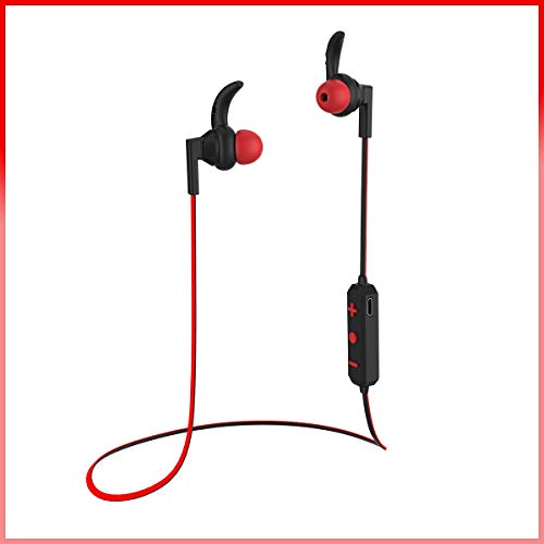 Venividivici Bluetooth Headphones Sports Wireless Earbuds, Waterproof Headphones with Mic, Richer Bass HiFi Stereo in-Ear Earphones, Noise Cancelling Headsets(Red