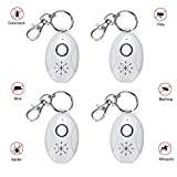 Muhoop Portable Pest Repeller Outdoor Ultrasonic Mosquito Repellent Electronic Pest Control Insect Reject Flea and Tick Prevention for Dogs, Cats, Pets (Pack of 4)