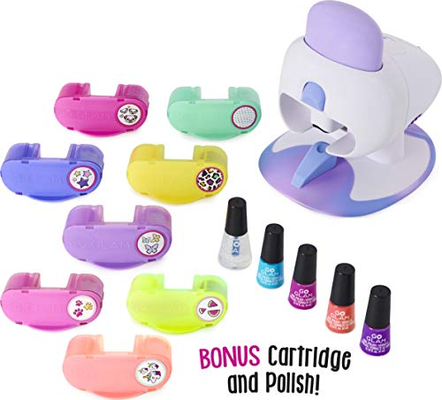 Cool Maker, GO Glam Nail Stamper Deluxe Salon with Dryer for Manicures and Pedicures with 3 Bonus Patterns and 2 Bonus…