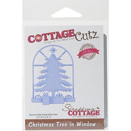 CottageCutz Christmas Tree in Window Elites Die, 2.5