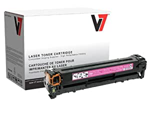 V7 THM21215 Laser Toner for HP, Canon printers (Replaces CB543A (HP 125A), 1978B001AA, yield up to 1400 pages)