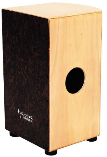 Tycoon Percussion 29 Roundback Series Cajon With Black Makah Burl Front Panel