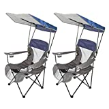 .Kelsyus. Premium Folding Quad-Style Portable Camping Beach Canopy Chair with Cup Holder