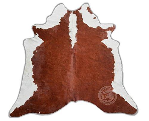 ALFOMBRA DE PIEL DE VACA Hereford Marrón y Blanco 220 x 200 cm �?Calidad Premium de PIELES DEL SOL
