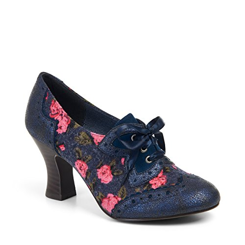 Brogue Sole Blue amp; Free Lace Protector Belle Daisy Shoe Shoo Women's up Boots Ruby Divino 4HBgXx