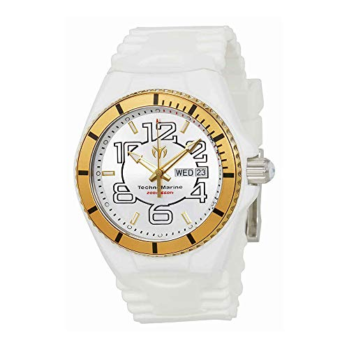 Technomarine Men's Cruise Stainless Steel Quartz Watch with Silicone Strap, White, 5.7 (Model: TM-115142)