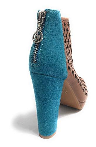 Armani - Zapatos de vestir de Piel para mujer MARRONE CUOIO/ BLU OTTANIO