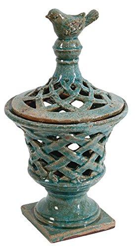 Benzara BM165723 Antique Ceramic Lidded Jar, ()