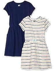 Amazon Brand - Spotted Zebra Girls' Toddler & Kids 2-Pack Knit Short-Sleeve Cinch Waist Dresses