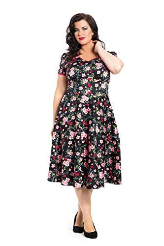 Voodoo-Vixen-Retro-50s-Rockabilly-Adeline-Cherry-Blossoms-Flair-Dress