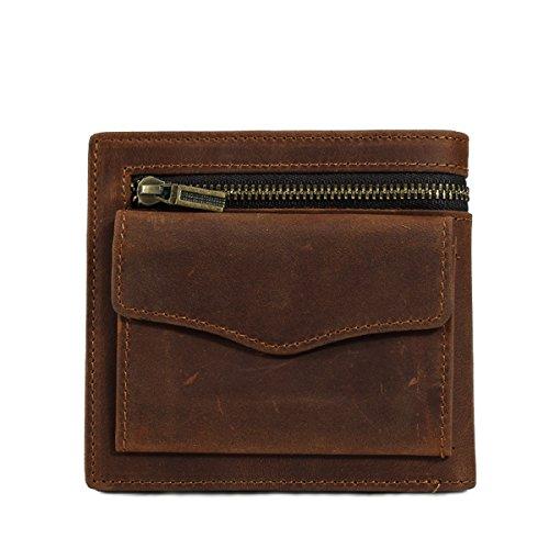 Natural Genuine Leather Vintage Billfold product image