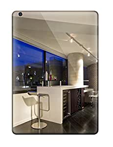 Durable Wine Bar With Barstool Seating And Contemporary Track Lighting Back Case/cover For Ipad Air