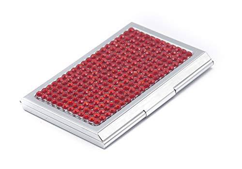 Business Card Case for Ladies - Luxurious Crystal Rhinestone Calling Card Holder for Professional Women - Slim/Fits: 15~20 Cards | Impress Your Prospects & Clientele with Impeccable Class & - Case Crystals Business Card