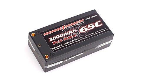Thunder Power RC 3800mAh 2-Cell/2S 7.4V SHORT G6 Pro Race 65C LiPo Battery, ()