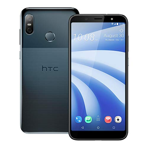 HTC U12 life (2Q6E100) 6.0 inchs with 4GB RAM / 64GB Storage, (GSM ONLY, NO CDMA) Factory Unlocked International Version No-Warranty Cell Phone (Moonlight Blue) (Htc Mobile Phones)