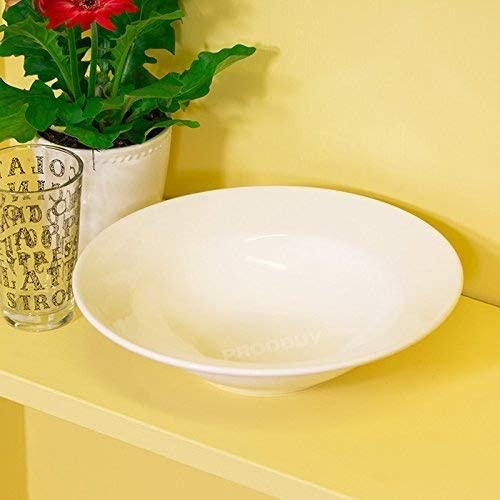 2 x Pasta Bowls // Dishes Large 26cm White Pasta Bowls Dishes