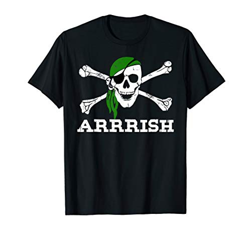 ARRish T-Shirt Jolly Roger Flag St Patricks Day Pirate Gifts