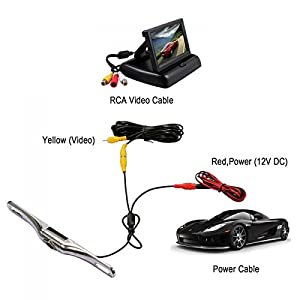 Esky EC180-19 180 Degree Viewing Angle 100% Waterproof High-Definition CMOS Vehicle Car Rear View Backup Camera