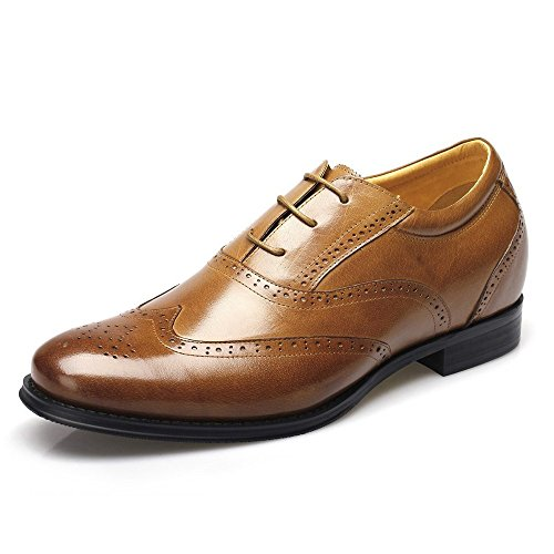 CHAMARIPA Men height Increasing Shoes Brogues Dress Wedding Elevator Shoes 2.76'' Taller 218A01 US 11 by CHAMARIPA