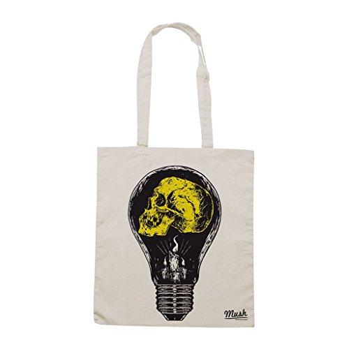 Borsa Skull Light Bulb Idea - Panna - Famosi by Mush Dress Your Style