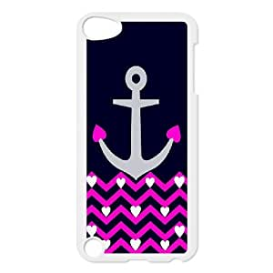 For Ipod Touch 5 Anchor Stripe Print Pattern Protective Back Case-Style-12