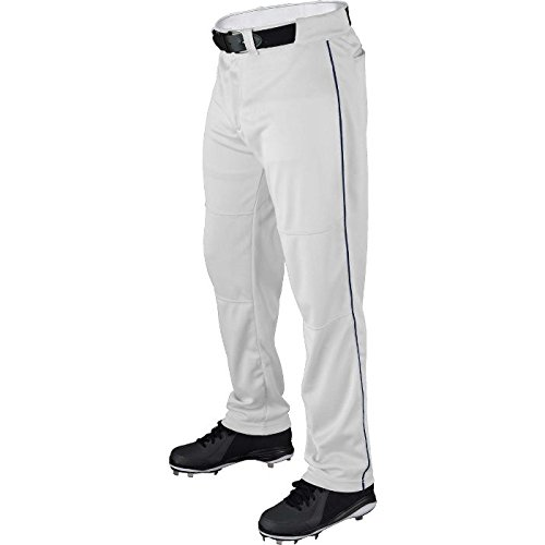 - Wilson Youth Classic Relaxed Fit Piped Baseball Pant, White/Navy, Small