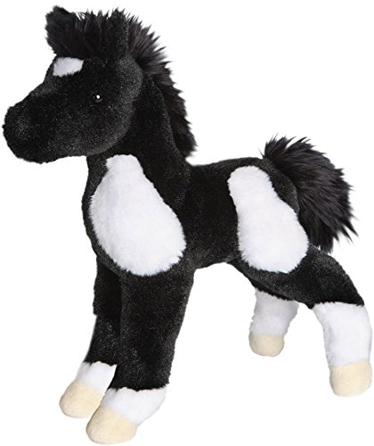 Cuddle Toys 4545 25 cm Long Runner Black and White Foal Plush Toy (Horse Plush Paint)