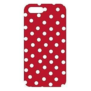 Fondo Rojo redonda caso Dots Diseño para el iPhone 5