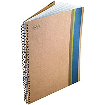 "Sustainable Earth by Staples Wirebound Notebook, 1 Subject, 9-1/2"" x 6"""