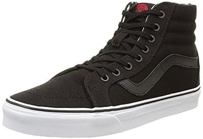 Vans SK8-HI Reissue (Twill & Gingham) Mens Skateboarding-Shoes VN-03CAIKS_8.5 - Black/True White