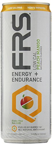 FRS Energy Low Cal Nutrition Beverage, Peach/Mango, 12-Count, 11.5 Ounce