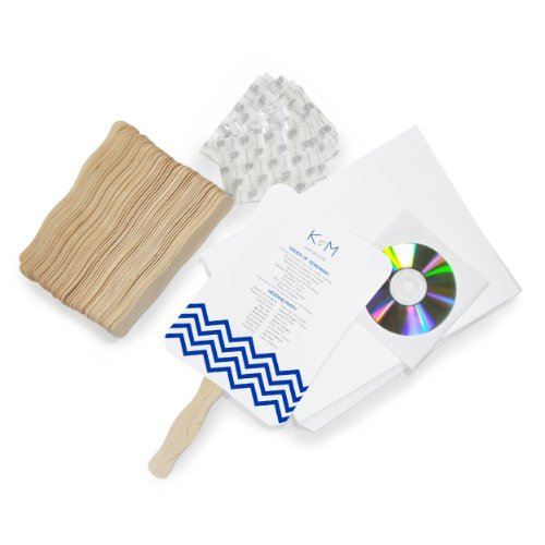 Cathy's Concepts DIY Contemporary Fan Program Paper Kit (Program Fans)