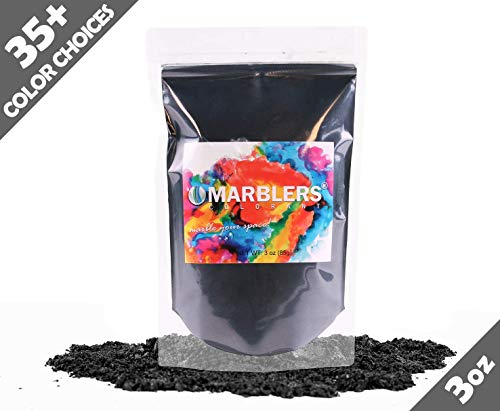 - Marblers Powder Colorant 3oz (85g) [True Black] | Pearlescent Pigment | Tint | Pure Mica Powder for Resin | Dye | Non-Toxic | Great for Paint, Concrete, Epoxy, Soap, Nail Polish, Cosmetics