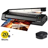 JZBRAIN 13'' Laminator Machine for A3 A4 A6 Two Roller Technology with Jam- Free Function Fast Speed Thermal Laminating Machine with Trimmer and Corner Rounder for Home Office School Teachers (Black)