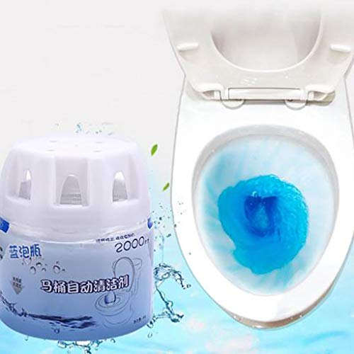 Sdoveb Automatic Toilet Bowl Cleaner, Toilet Tank and Bathroom Cleaning System, Toilet Treatment, Blue Cleaning with Natural Plant Scent (Blue)