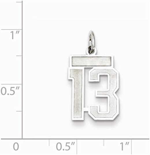 25mm x 21mm Solid 925 Sterling Silver Large Number 24 Charm Brushed Matte Finish Pendant