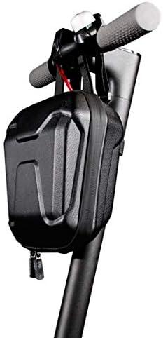 サドル防雨折りたたみ自転車バッグ電動スクーターハングバッグユニバーサル電動スクーターEVAハードシェルバッグバイクアクセサリー,黒,2.5L