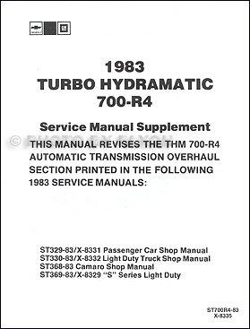 700r4 transmission repair manual - 7
