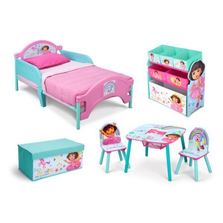 Nickelodeon Dora the Explorer Room in a Box with BONUS Toy (Delta Dora The Explorer Bed)