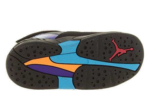 Jordan Nike Hydro 2 (ps) Diapositivas sandalias-negro / color de rosa vivo-3 Black/Tr Rd/Flnt Gry/Brght Cncr