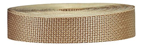 (Strapworks Lightweight Polypropylene Webbing - Poly Strapping for Outdoor DIY Gear Repair, Pet Collars, Crafts - 1 Inch x 25 Yards - Khaki)