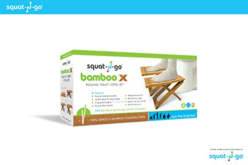 Squat N Go Bamboo X Toilet Stool | Fully Adjustable, Ultra Portable & Eco Friendly | Bonus Travel Bag Included by Squat N Go (Image #6)