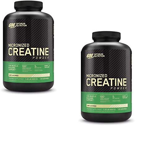 Optimum Nutrition Micronized Creatine Monohydrate Powder, Unflavored, Keto Friendly, 120 Servings (Packaging May Vary) - 2 Pack