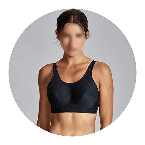 Coolmax Underwire - Women's High Impact Support Plus Size Coolmax Underwire Workout Sports Bra,E,38
